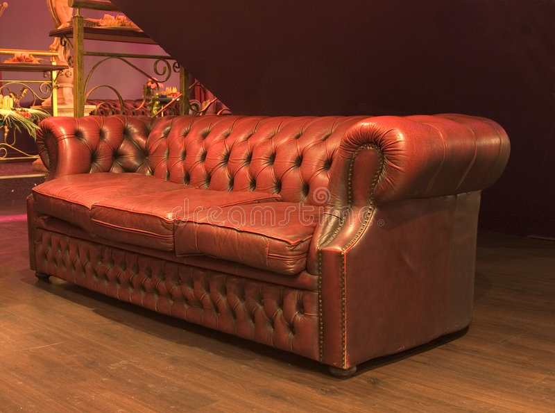 Luxurious leather couch royalty free stock photos