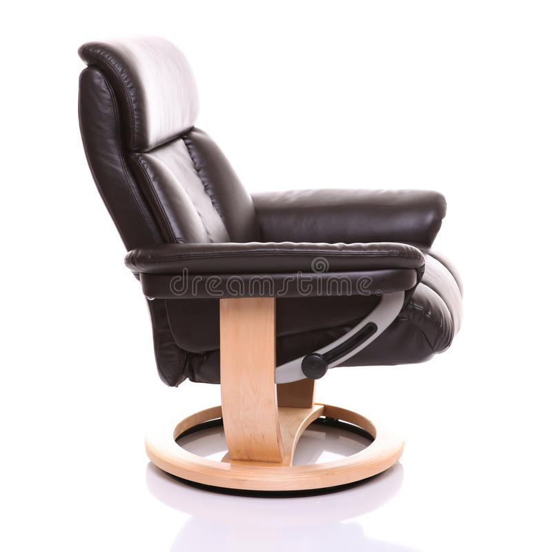 Download Luxurious Leather Recliner Chair, Side On. Stock Image - Image: 27127901