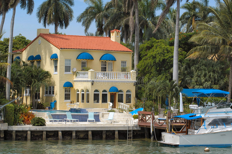 Luxurious mansion stock photo