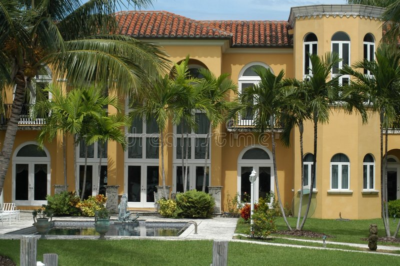 Luxurious mansion. At Star Island, Miami, Florida, U.S.A royalty free stock photography