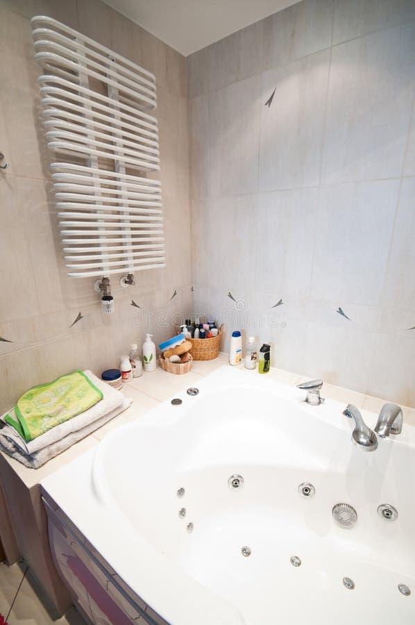 Luxurious modern bathroom stock photo