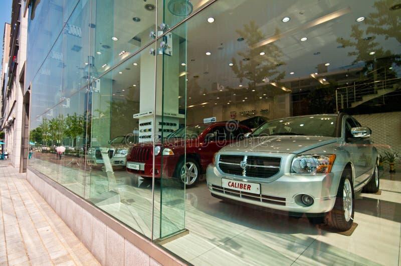 Modern cars for sale in Seoul South Korea stock photos