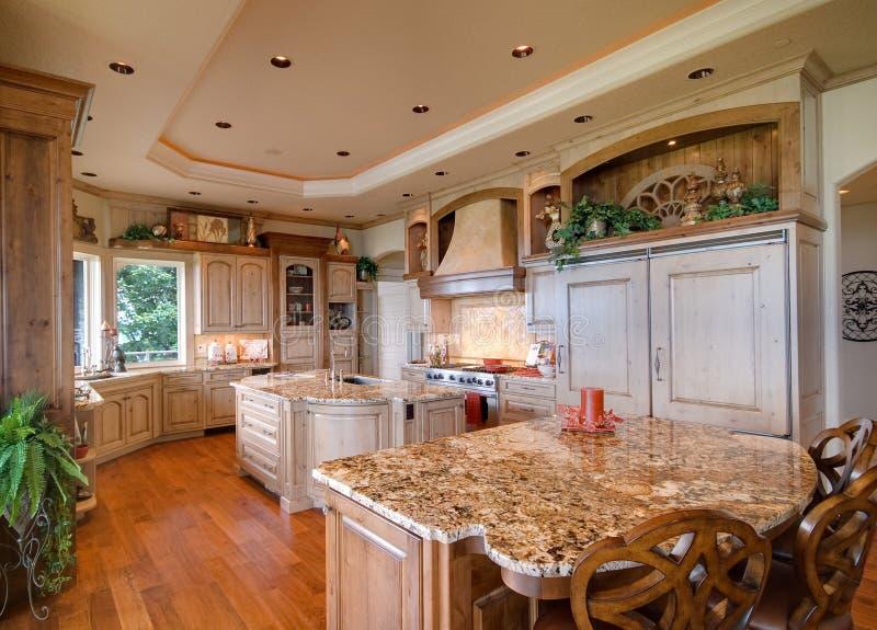 Luxurious modern kitchen. Interior details of luxurious modern kitchen in house or home stock images