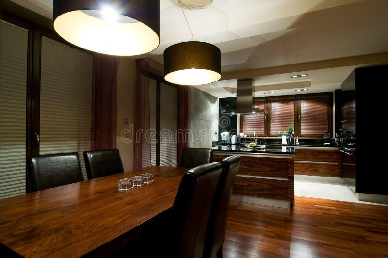 Luxurious modern kitchen royalty free stock photo