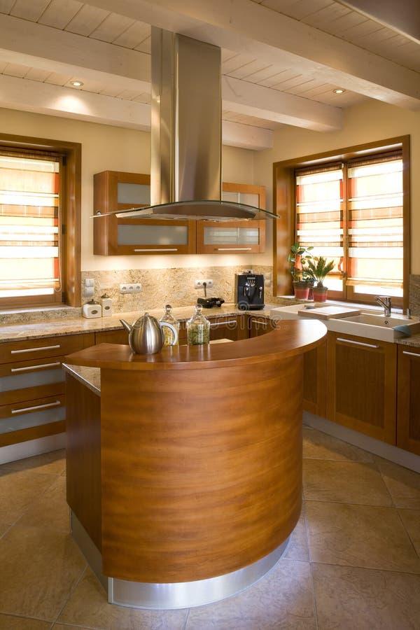 Luxurious modern kitchen. Close up details of luxurious modern kitchen in home stock photo