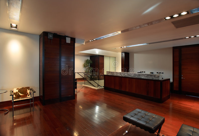 Luxurious office reception royalty free stock images
