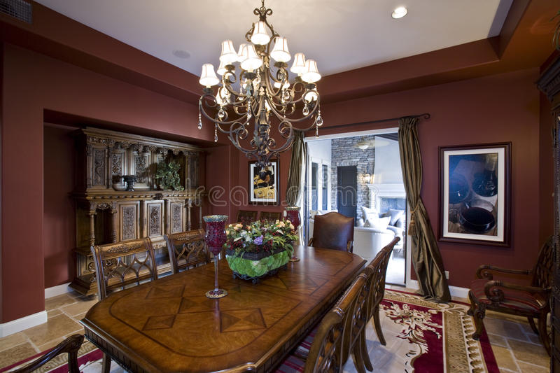 Download Luxurious Old Fashioned Dining Room Stock Photo