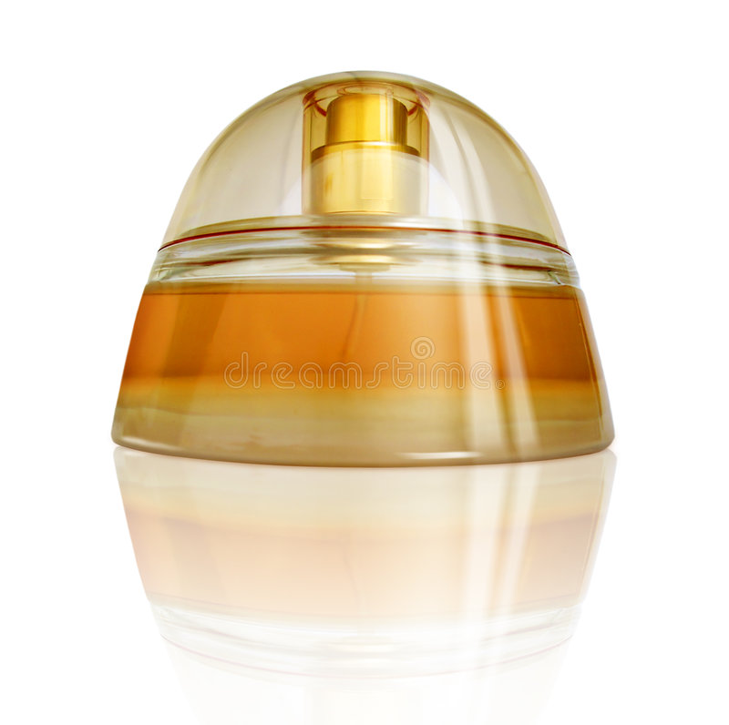 Download Luxurious Perfume With Reflection, Yellow-Orange Colors Stock Image - Image of scent, luxurious: 173135