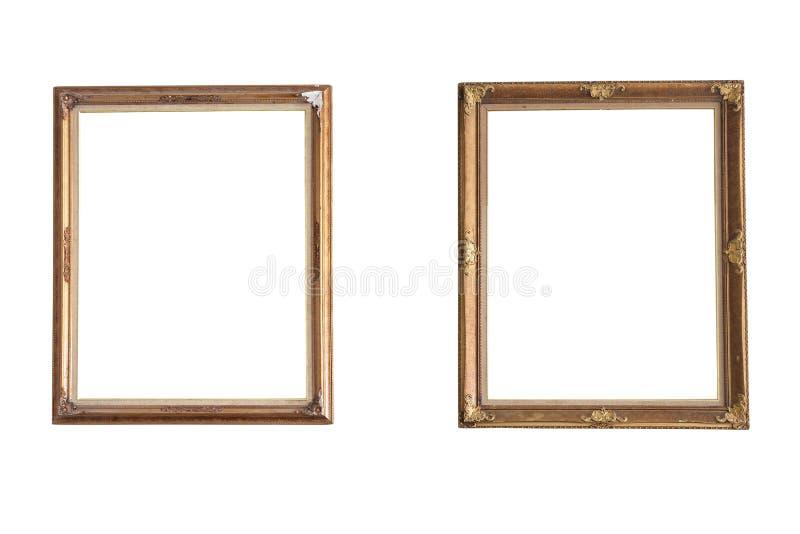 Luxurious photo frames stock photos