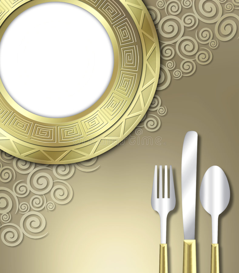 Luxurious place setting stock photography