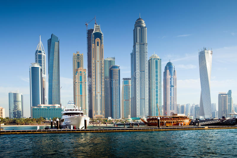 Dubai Marina, UAE stock images