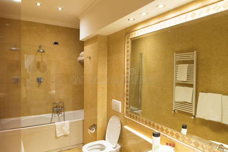 Luxurious resort bathroom stock photography