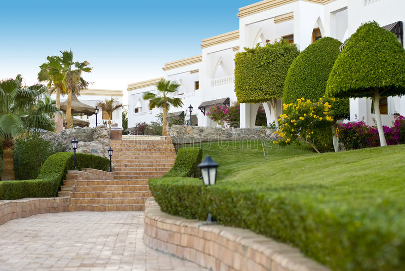 Luxurious resort hotel royalty free stock images