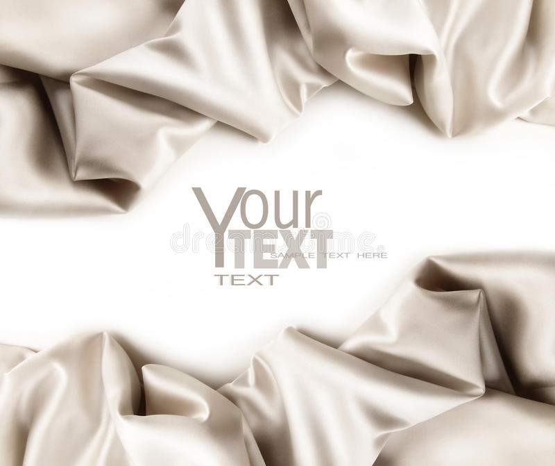 Luxurious satin fabric on white stock images