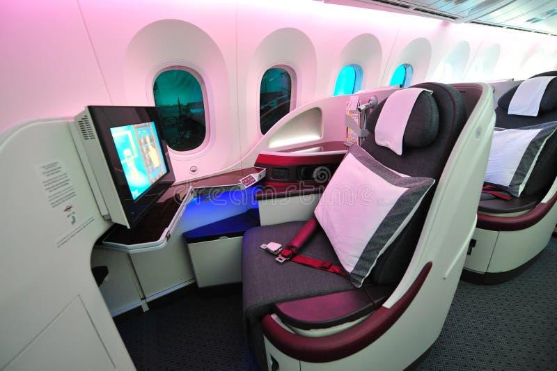 Luxurious Business Class Seat Of A Qatar Airways Boeing 787-8