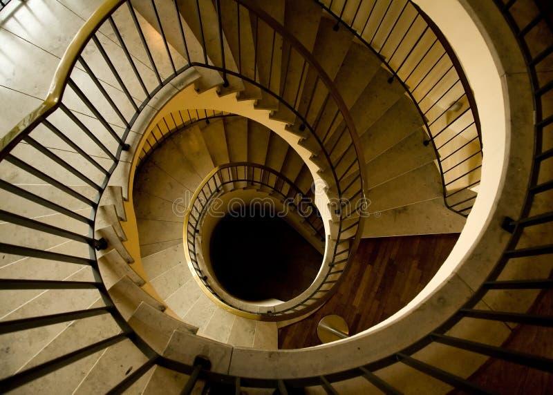 Luxurious Spiral Staircase stock photos