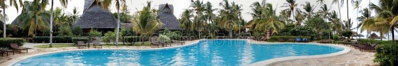 Luxurious swimming pool. In Zanzibar, Tanzania royalty free stock photo