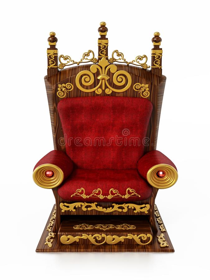 Luxurious throne isolated on white background. 3D illustration vector illustration