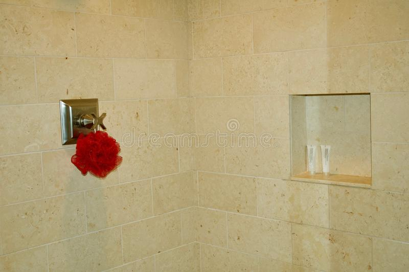 Luxurious Tiled Shower in Modern Bathroom royalty free stock photos