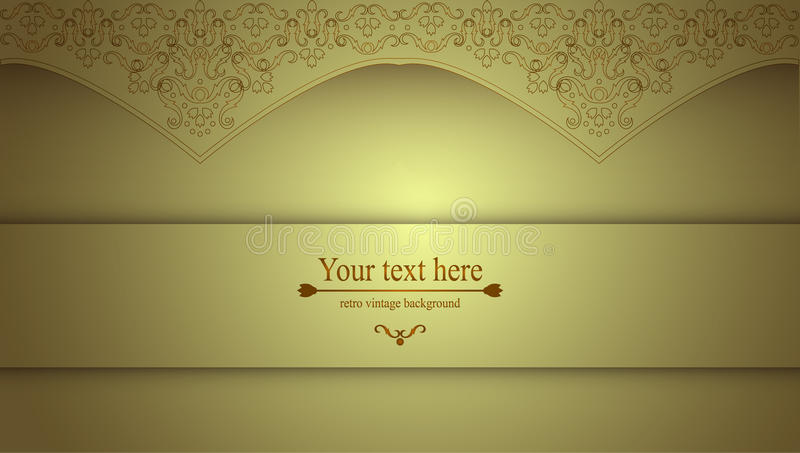 Luxurious Victorian Retro Background Pattern With Curls For Your