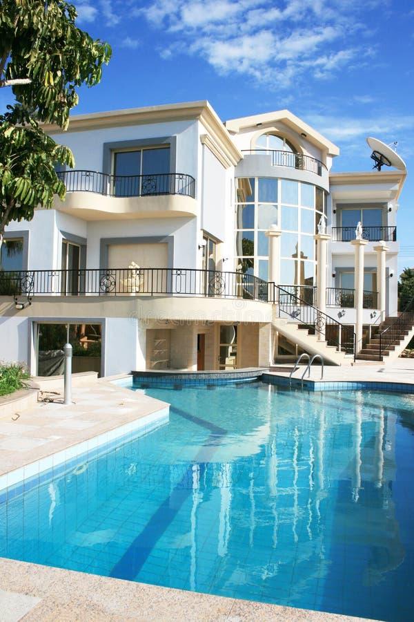 Luxurious villa stock photos