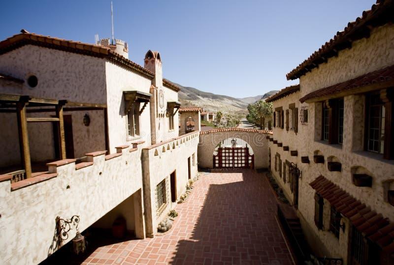 Luxurious villa and courtyard royalty free stock photos
