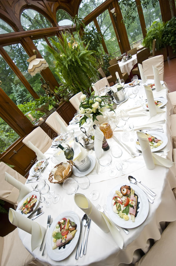 Luxurious wedding table stock photography