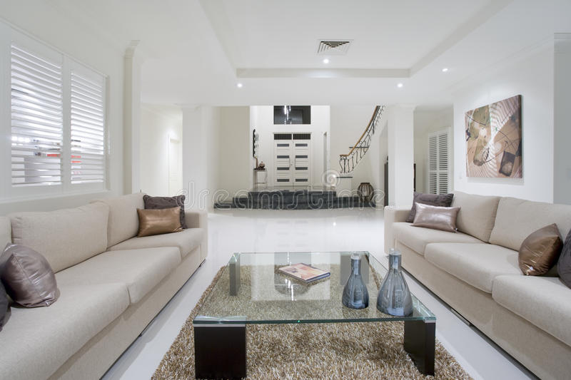 Download Luxurious White New Living Room Stock Photo - Image: 12410448
