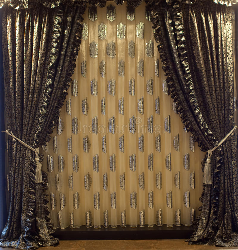 Luxurious window curtains royalty free stock images