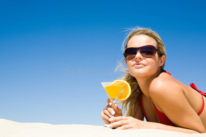 Luxurious woman stock photo