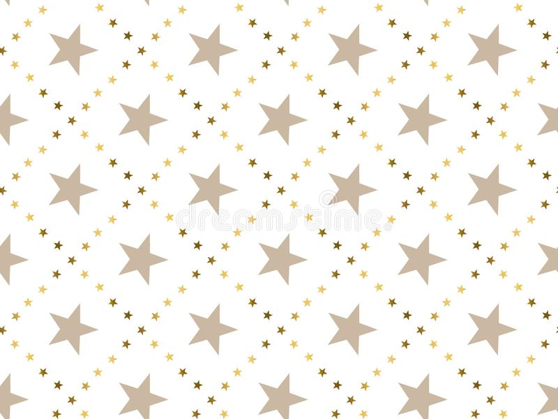 Luxury abstract star concept seamless pattern. Christmas festive textile vector illustration. Repeatable motif for wrapping paper, fabric, background vector illustration