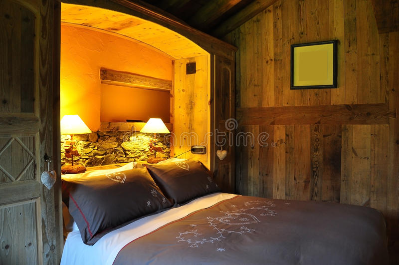 Luxury accommodation mountain hotel room stock image for Designhotel maastricht comfort xl