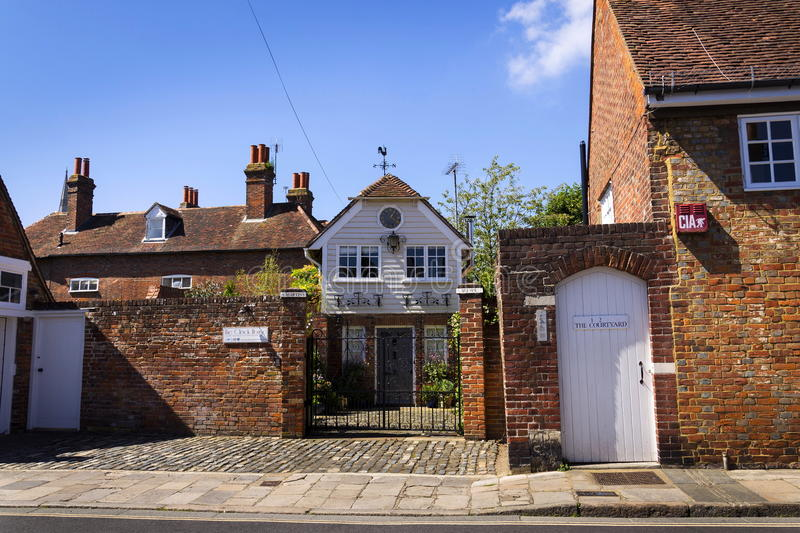 Luxury accommodation offered by Airbnb on August 12, 2016 in Chichester, United Kingdom. CHICHESTER, UNITED KINGDOM - AUGUST 12: Luxury accommodation offered by royalty free stock photos