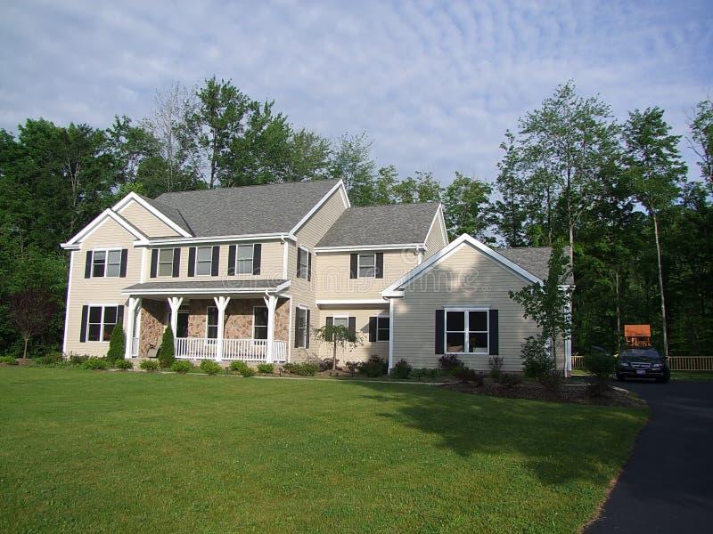 Luxury american house stock photos