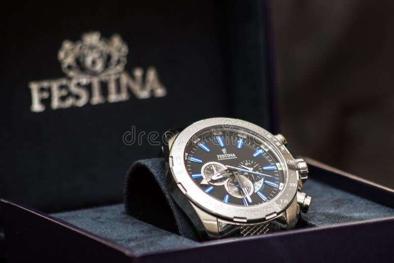 Luxury analog watch royalty free stock photos