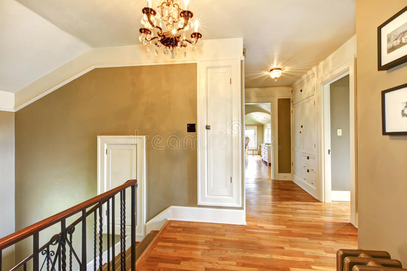 Luxury antique home hallway royalty free stock photography