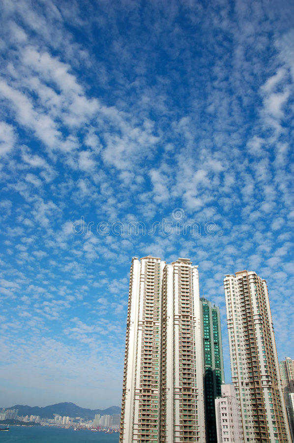 Luxury apartment in blue sky royalty free stock images