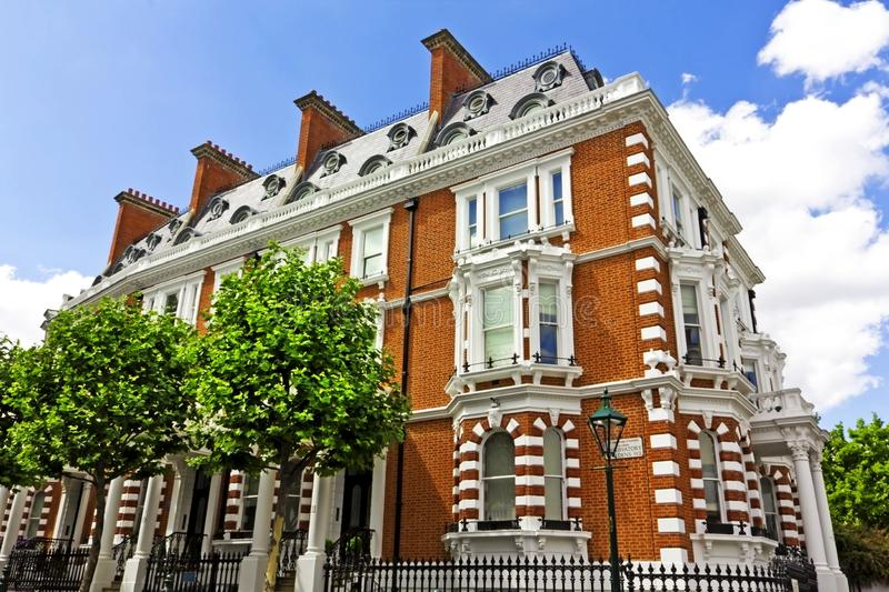 Luxury Apartment Building in London. Large house in London's wealthy neighborhood Notting Hill royalty free stock photo