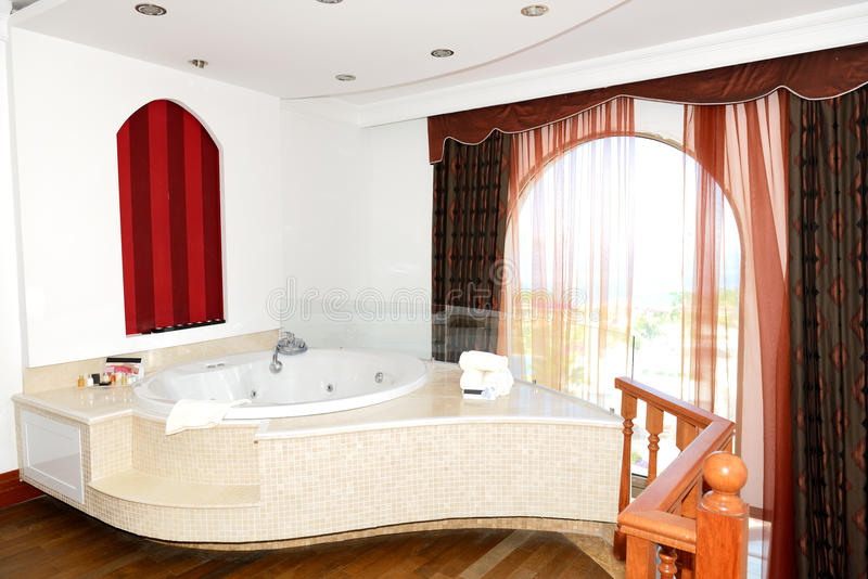 Download Luxury Apartment With Jacuzzi Bathroom Stock Image   Image Of  Room, Beautiful: 36585583