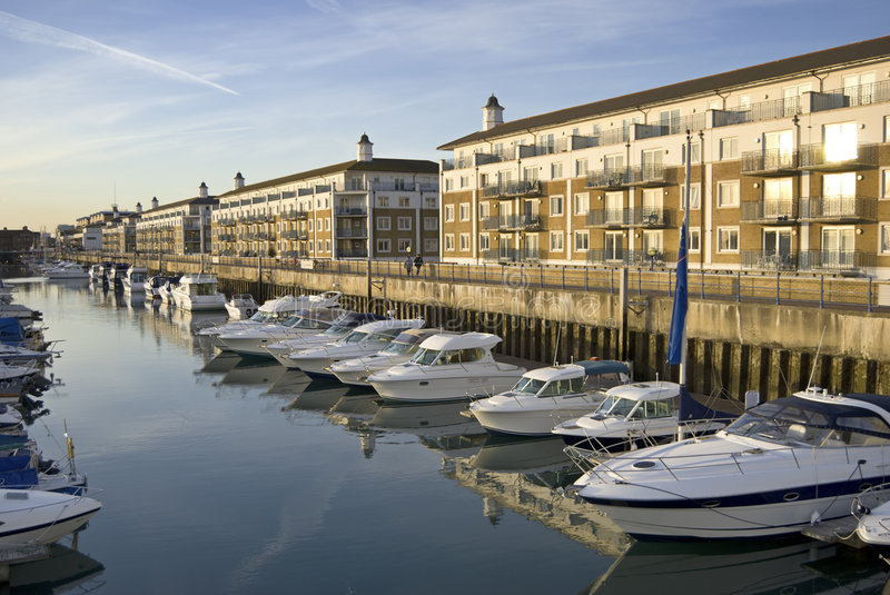 Luxury apartments & yachts royalty free stock images