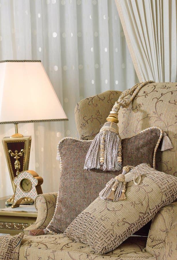 Luxury armchair in elegance living room royalty free stock images