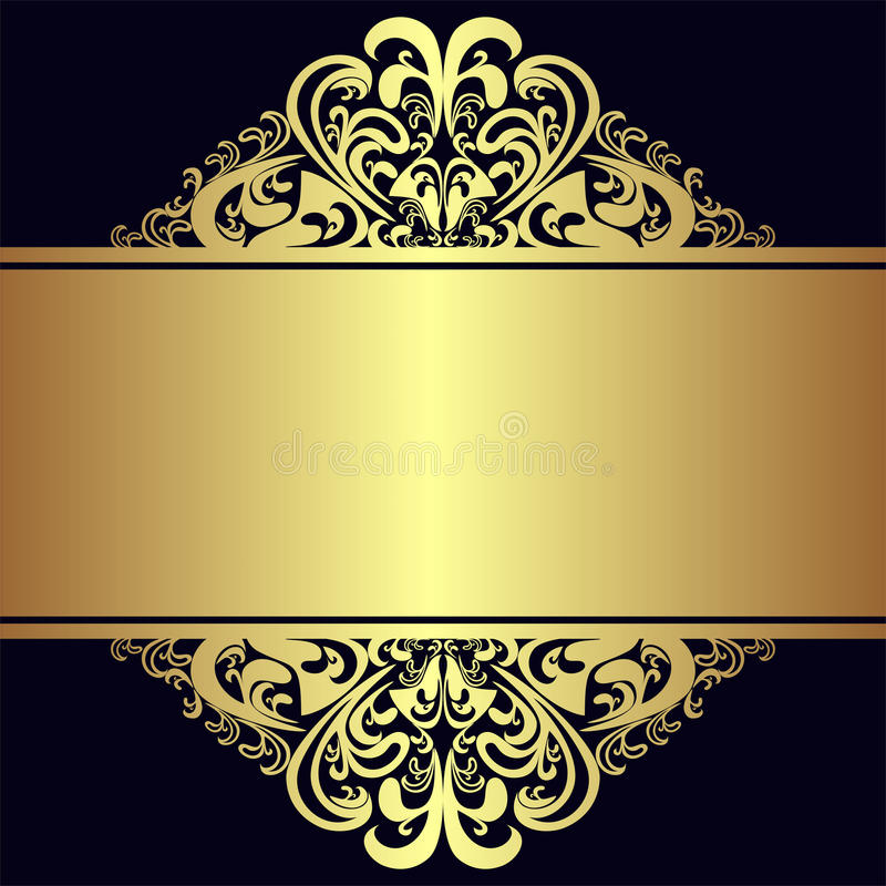 Luxury Background With Royal Golden Borders And Ribbon ...