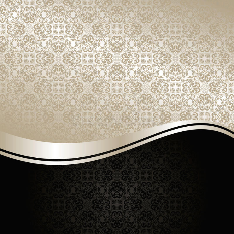Luxury Background: silver and black. royalty free illustration