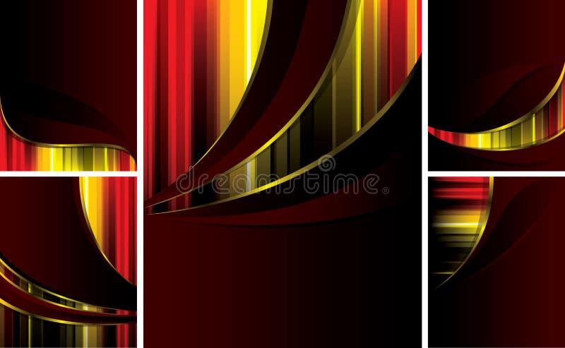 Luxury_backgrounds_set_of_5_pieces royalty-vrije illustratie