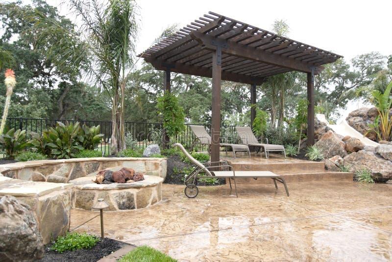 Luxury backyard royalty free stock photos