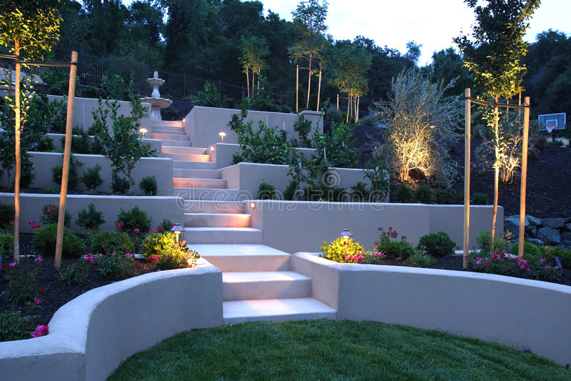 Luxury backyard royalty free stock image