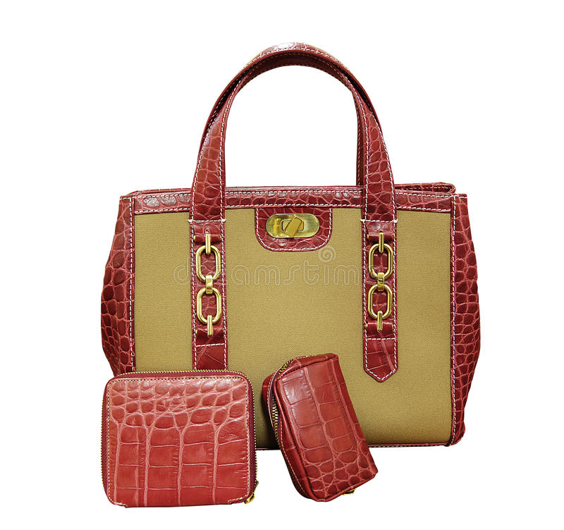 Luxury bag. (clipping path) on white background stock photography