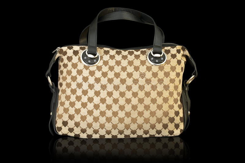 Luxury Bag with Diamonds. And hearts royalty free stock photography