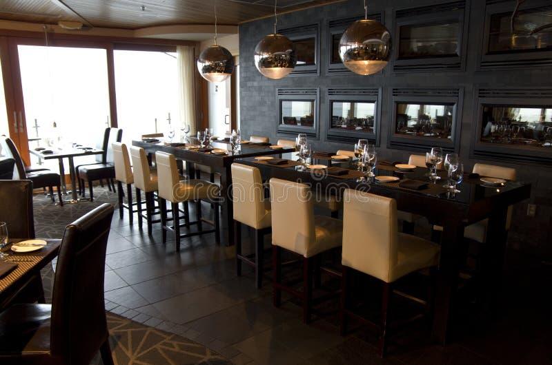 Luxury bar restaurant royalty free stock images
