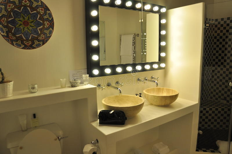 Download Luxury bathroom stock photo. Image of hollywood, mirror - 23106394